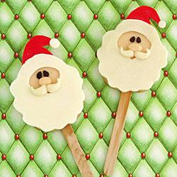 santa claus cookie pops - Santa Claus Craft