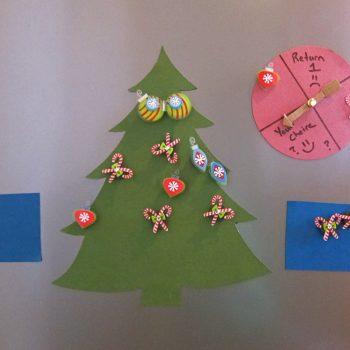Refrigerator Christmas Tree Decorating Game