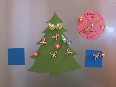 Refrigerator Christmas Tree Decorating Game