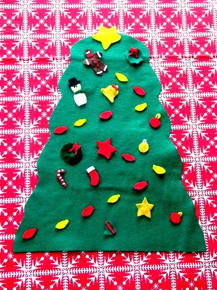 Felt Preschool Christmas Tree
