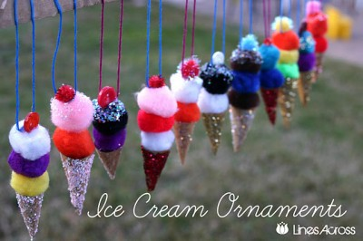Ice Cream Ornaments Fun Family Crafts