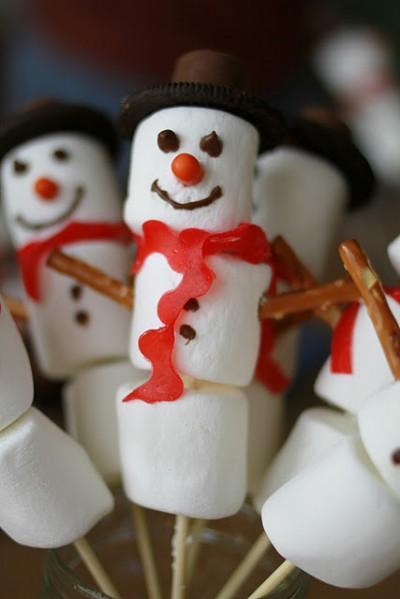 Marshmallow Snowman Kabobs