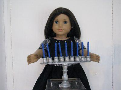 Make a Doll Size Menorah