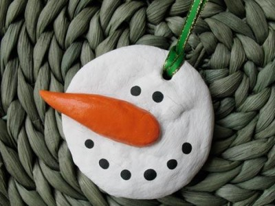 Salt Dough Snowman Ornament Fun Family Crafts