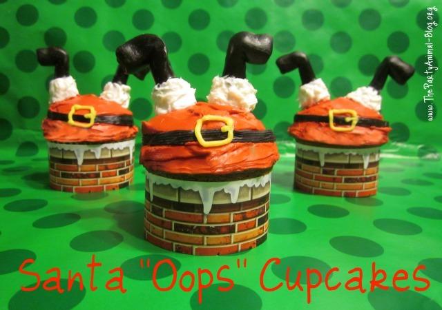 Santa Oops Cupcakes