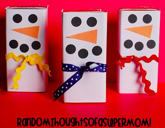 Snowman Juice Boxes