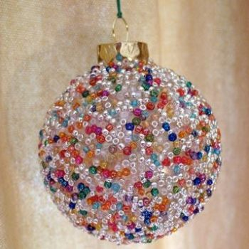 Seed Bead Ball Ornament