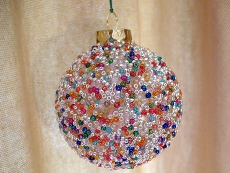 Seed Bead Ball Ornament
