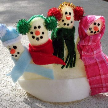 Snow Family Finger Puppets