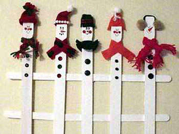 Snowman Fence Fun Family Crafts