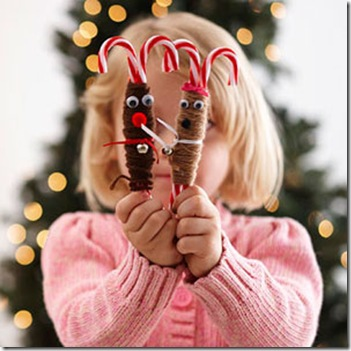 Candy Cane Reindeer Fun Family Crafts
