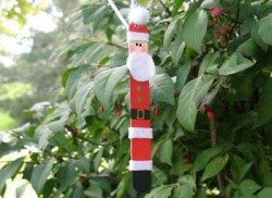 Craft Stick Santa Claus