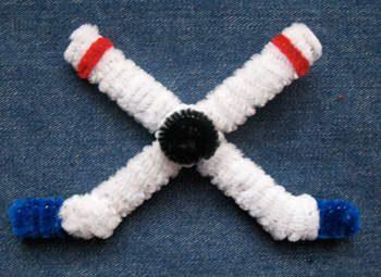 Crossed Hockey Sticks