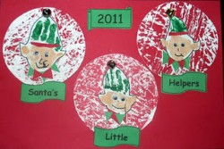 Christmas Elf Handprint