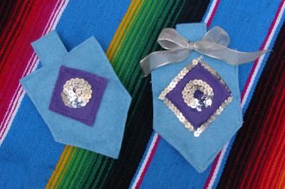 Felt Dreidel Ornaments