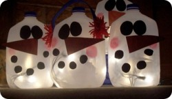 Glowing Snowmen