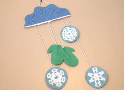 Mitten and Snowflake Wall Hanging