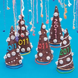 New Year's Ice Cream Cone Hats