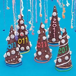 New Year's Ice Cream Cone Hats