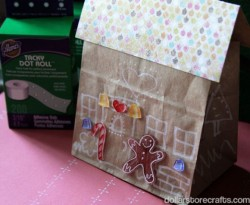 Paper Bag Gingerbread House