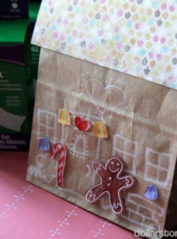 Paper Bag Gingerbread House
