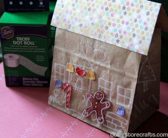 Paper Bag Gingerbread House Fun Family Crafts
