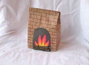 Paper Bag Fireplace