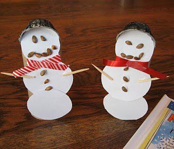 Paper Snowmen