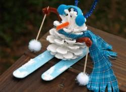 Pinecone Snowman