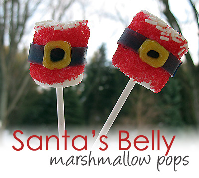 Santa Belly Marshmallow Pops