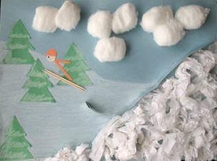 Ski Jump 3-D Art