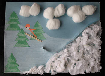 Ski Jump 3D Art