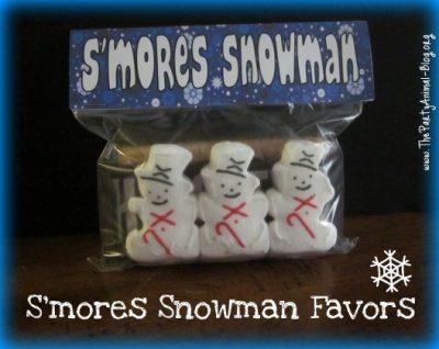 S'mores Snowman Favors