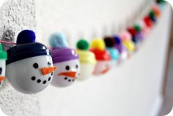 Snowman Advent to Christmas Garland