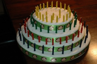 100 Days of School with 100 Candles on the Cake