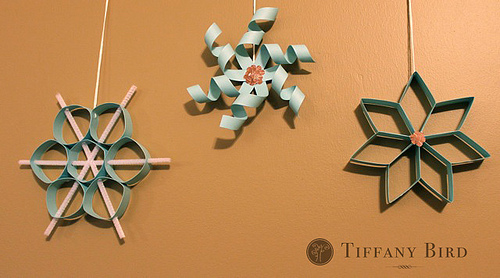 Twirly 3D Paper Snowflakes