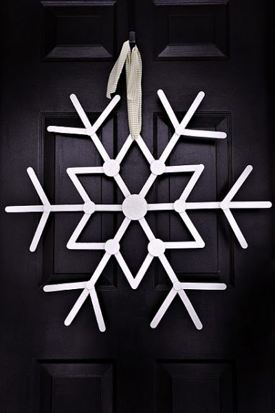 Craft Stick Snowflake