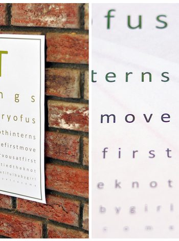 Story of Us Eyechart