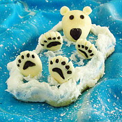 Polar Bear Back Float Cookie