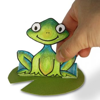 Jumping Paper Frog