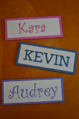 name plates fun family crafts