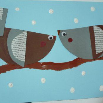 Winter Paper Birds