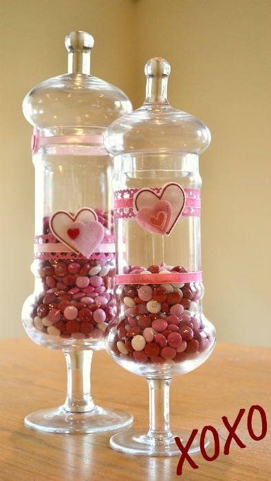 Valentine S Day Candy Jars Fun Family Crafts