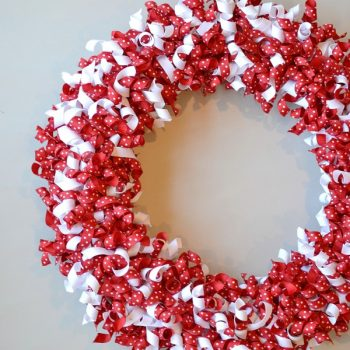 Valentine Curled Ribbon Wreath