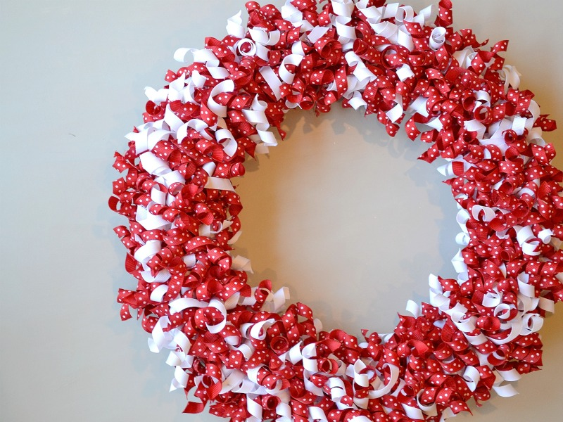 Valentine Curled Ribbon Wreath