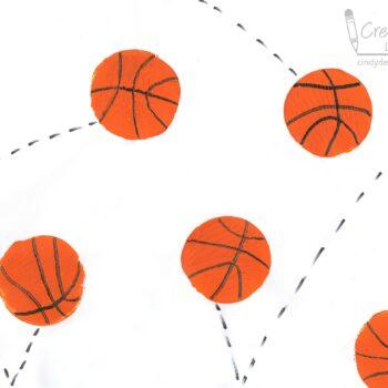 Bouncing Basketball Art