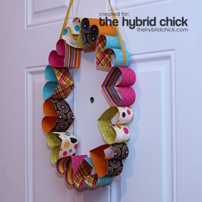 Cheery Paper Heart Wreath