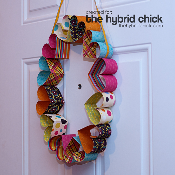 Cheery Paper Heart Wreath Fun Family Crafts