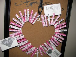 Valentine's Day Clothespin Wreath