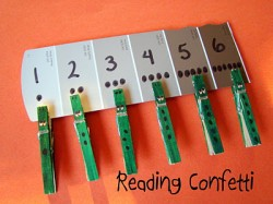 Crocodile Clothespin Counting